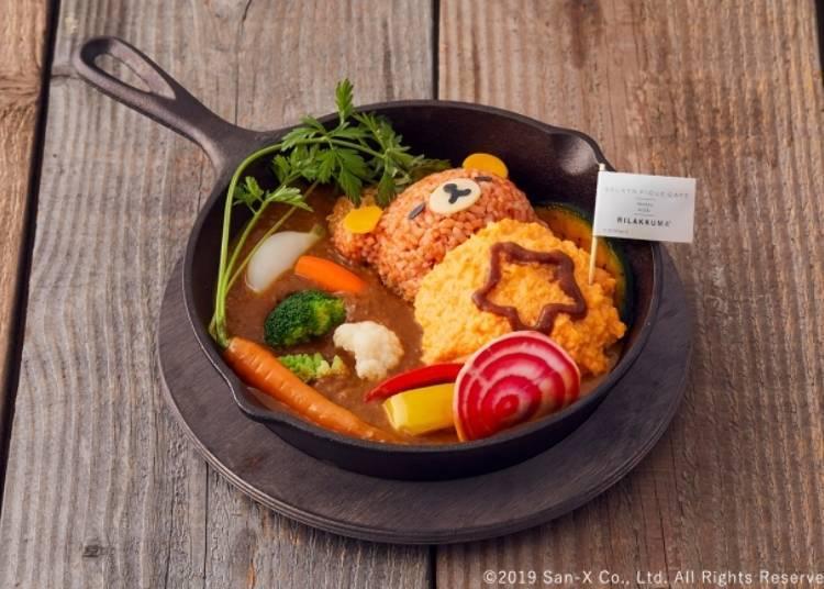 Sleeping Rilakkuma Pork Cutlet Curry - 2480 yen