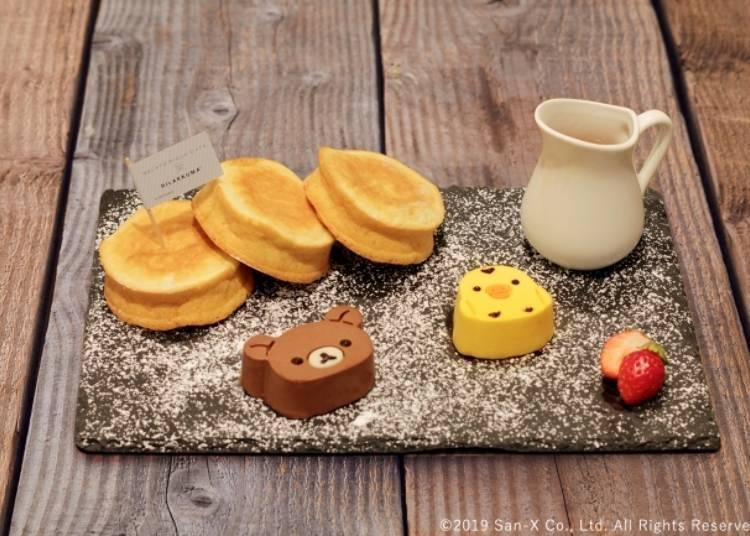 Rilakkuma & Kiiroitori Ricotta Cheese Pancakes - 1680 yen