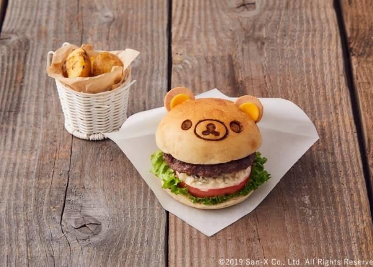 NATURAL BEEF 100%拉拉熊漢堡(ナチュラルビーフ100% リラックマバーガー)1680日圓