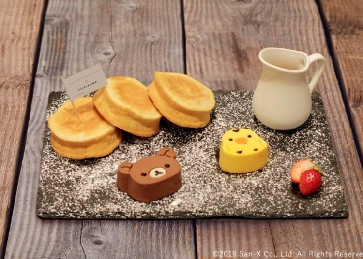 拉拉熊與小黃雞的Ricotta起士蛋糕(リラックマとキイロイトリのリコッタチーズパンケーキ)1680日圓