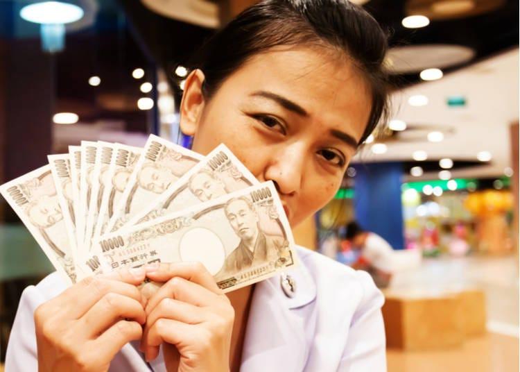 3. Japanese yen in cash is essential