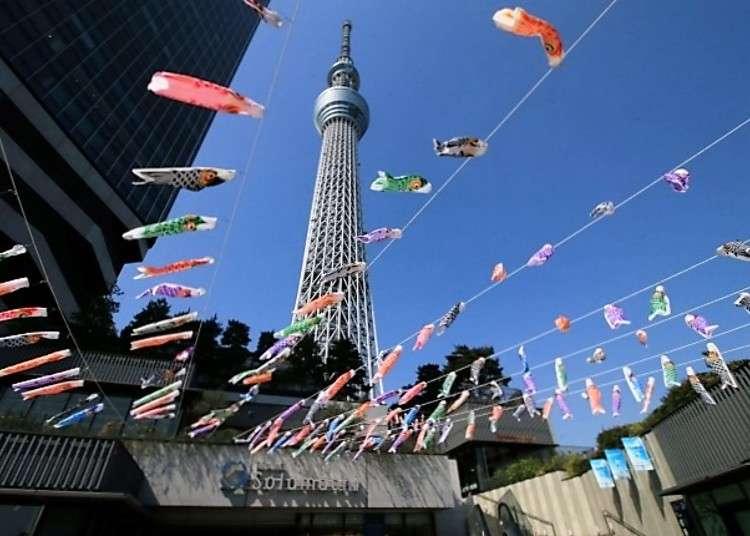 東京晴空塔城®的天空有1500條鯉魚旗飛揚!日本黃金週到初夏的各項活動即將起跑
