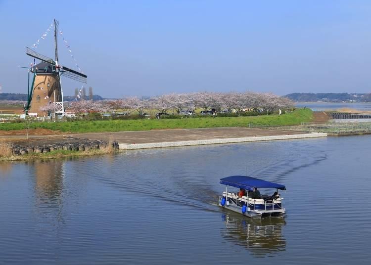 ③搭乘印旛沼觀光船