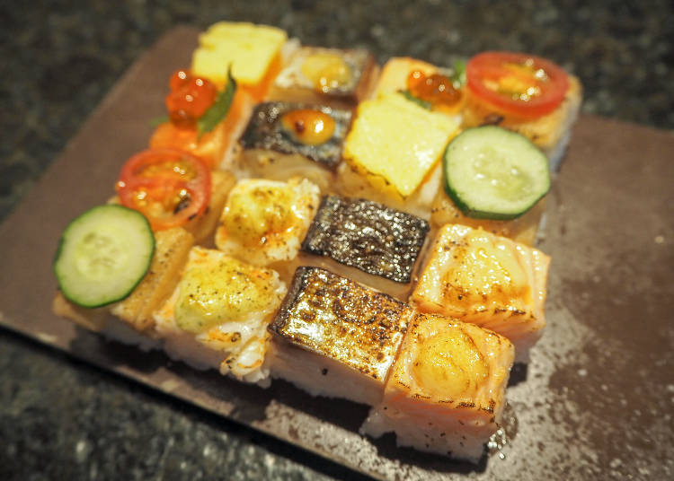 彩鮮やかな炙り寿司に舌鼓「KINKA sushi bar izakaya 渋谷」
