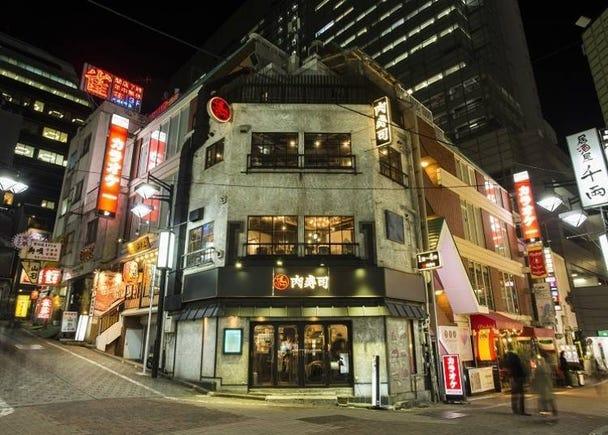 能品尝到话题生肉寿司的「涩谷 道玄坂 肉寿司」