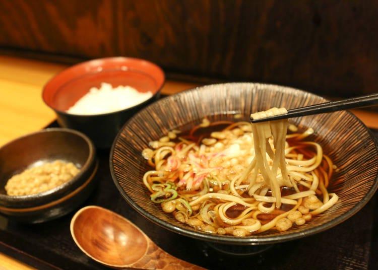 本格蕎麦をさくっとリーズナブルに味わえる「蕎麦 冷麦 嵯峨谷 渋谷店」