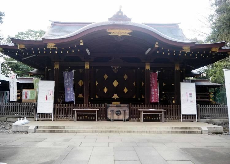 涩谷最古老的神社祈求恋爱:涩谷冰川神社