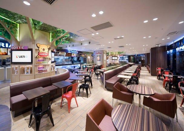 方便的美食广场&面包店「上野之森的面包店-WHOLESOME上野公园L'UENO店」
