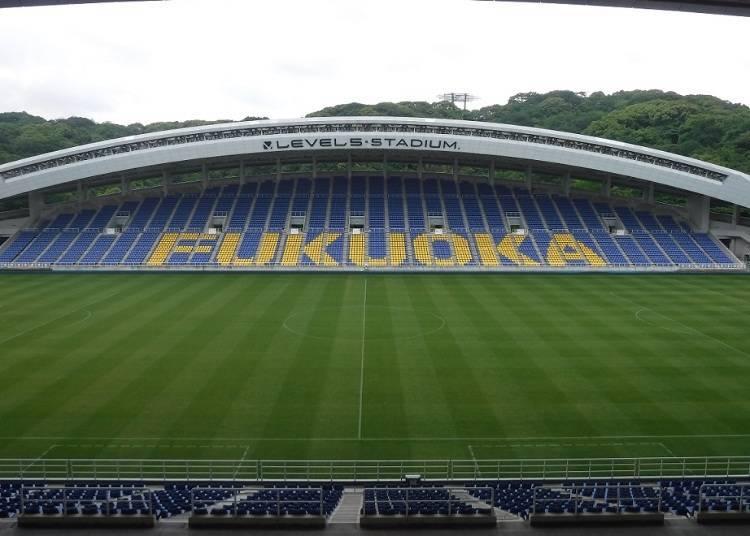 Level5 Stadium: A short distance away from Fukuokakuko Station