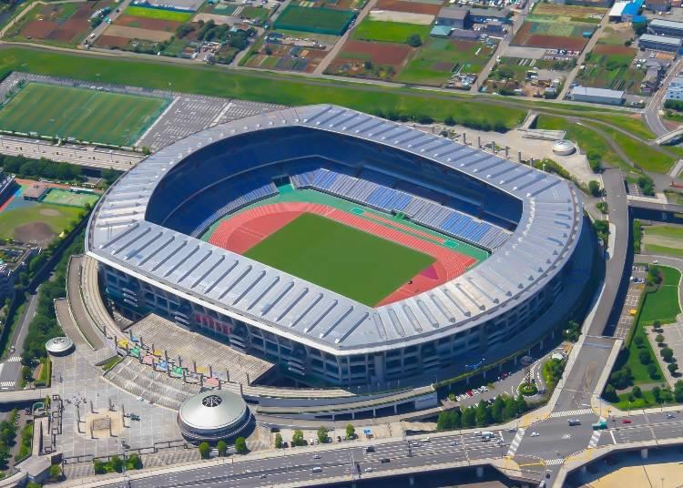 決勝戦がおこなわれる「横浜国際総合競技場」