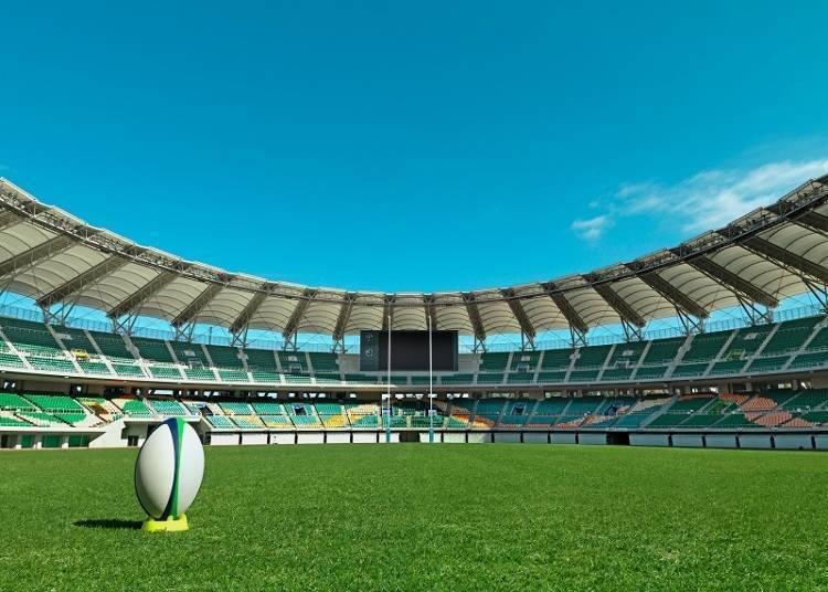 边看比赛边感受大自然的空气! 「小笠山综合体育运动公园体育场」