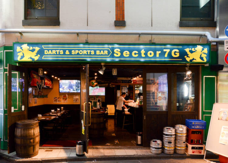1. Darts & Shot Bar Sector 7G: Live matches on two large-screen monitors