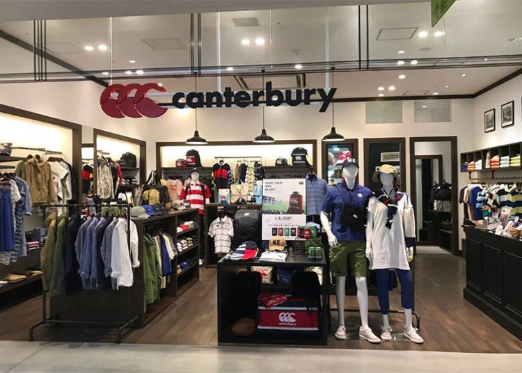 ■披上老店的橄欖球球衣來觀賽吧!「Canterbury」