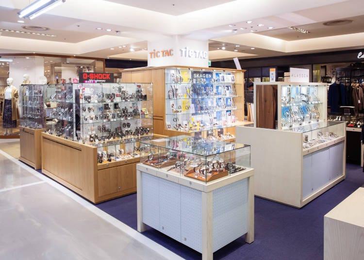 各種時髦手錶,種類一應俱全的鐘錶精品店「TiCTAC」