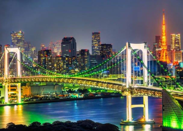 5. Rainbow Bridge: The elegant bridge that watches over Tokyo Bay