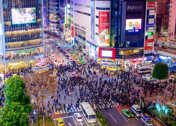 1. Shibuya Scramble Crossing: The busiest crossing in the world