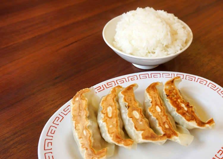 2. Fried dumplings with ramen noodles!