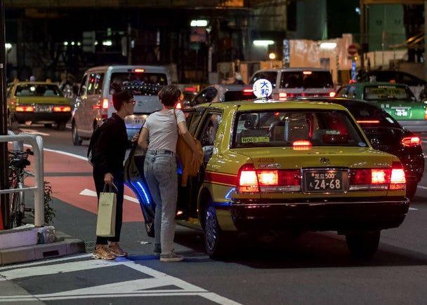 ①習慣了計程車的自動門!