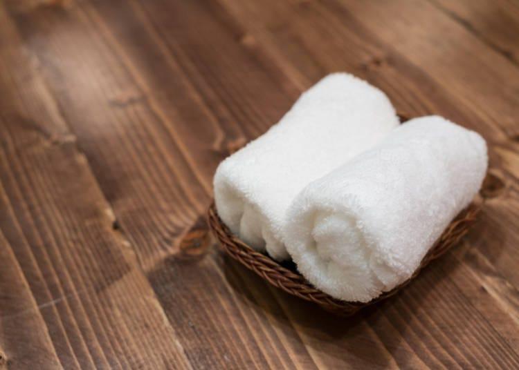 ③餐廳的擦手巾