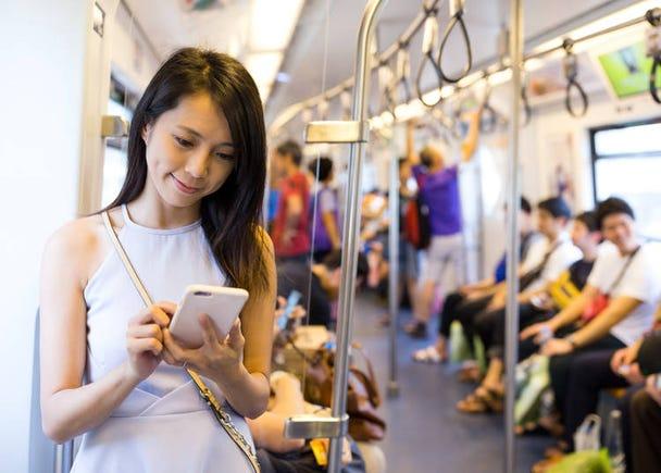 ⑨搭公車或電車請安靜!