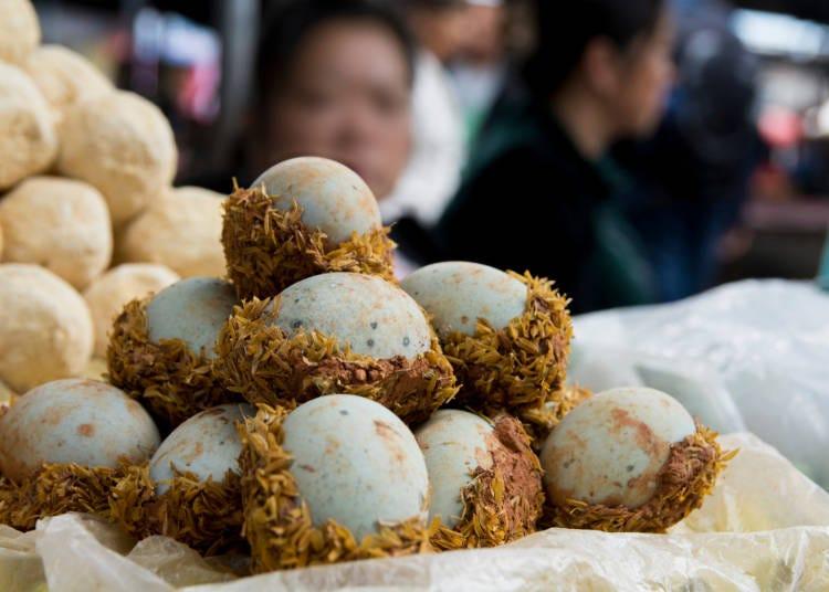 世界のびっくり卵料理、中国で食すカモと鳩の卵