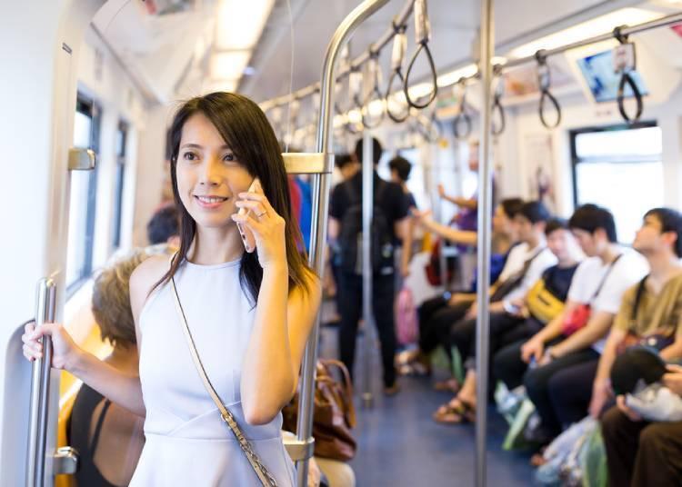 지하철에서 전화통화는 금물!