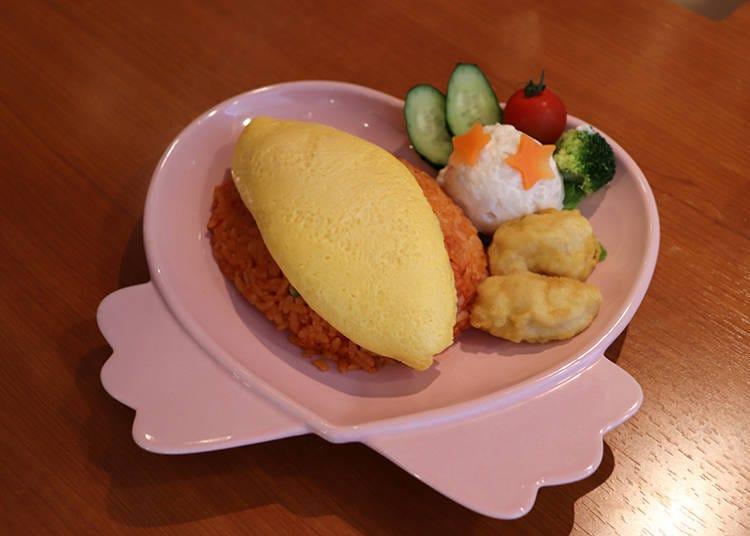 ■女僕咖啡廳必點!歐姆蛋包飯上的番茄醬繪圖