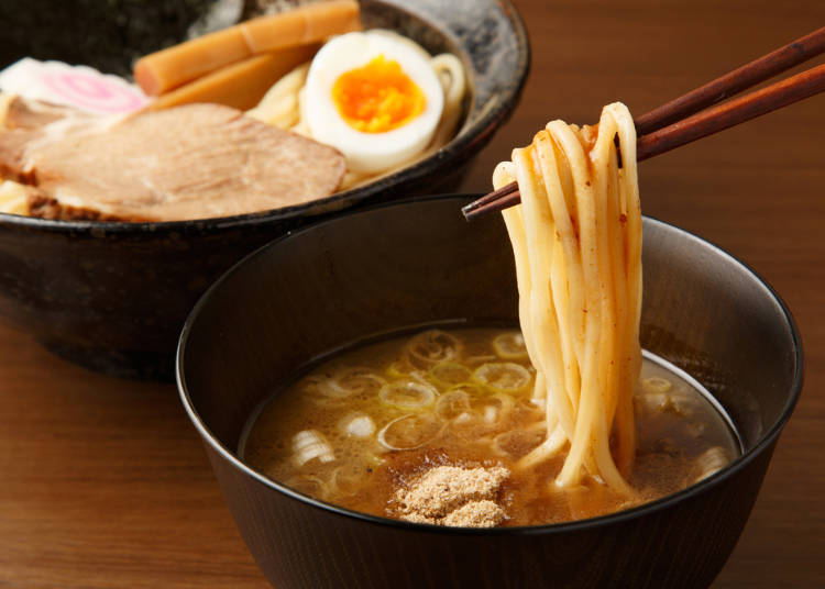 ■つけ麺のオススメの食べ方「あつもり」「スープ割り」