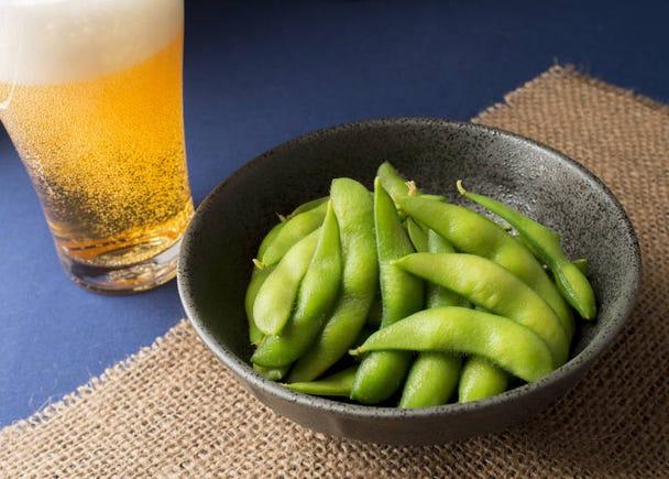 海外でも慣れ親しまれた「枝豆」も人気メニューに