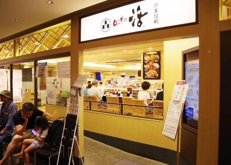 人氣的原因2:知名的排隊壽司名店與偶像周邊商店等,各種話題店家陸續進駐!