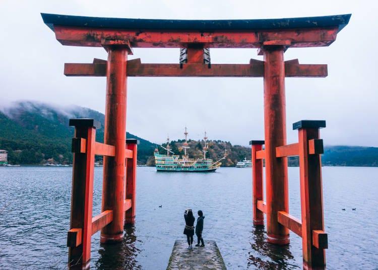 ●海盜船為其象徵的「蘆之湖」周邊地區可依據季節觀看富士山!