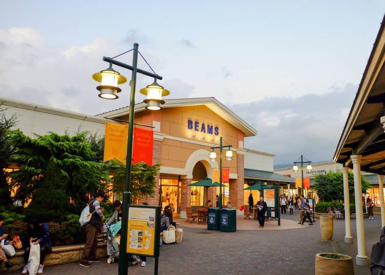 ●日本最大規模的暢貨中心(outlet)「御殿場」享受購物樂趣