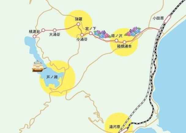 箱根按照地区的不同,有很多必看景点!
