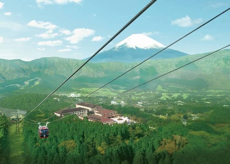 富士山を望む絶景露天風呂を楽しむ「ホテルグリーンプラザ箱根」