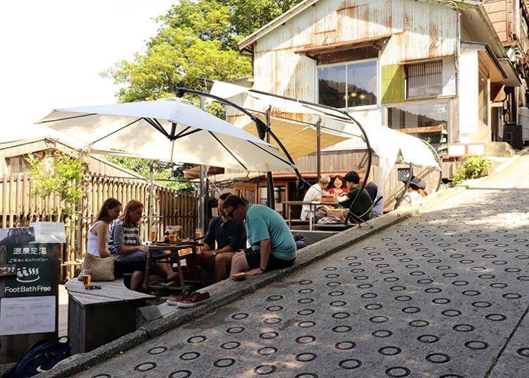■療癒箱根旅行時的疲憊身心!足湯與甜點雙重享受的「NARAYA CAFE」