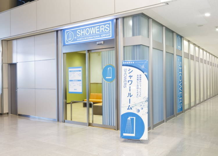 Freshen up in a shower room or nap room