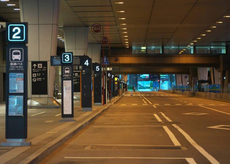 Bus Stops at Each of Narita's Terminals