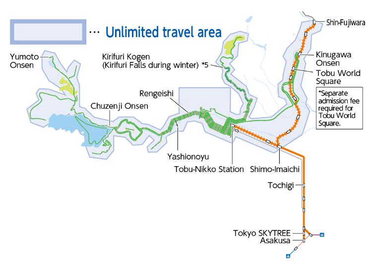 닛코의 명소 탐방에 최적인 'NIKKO PASS all area'