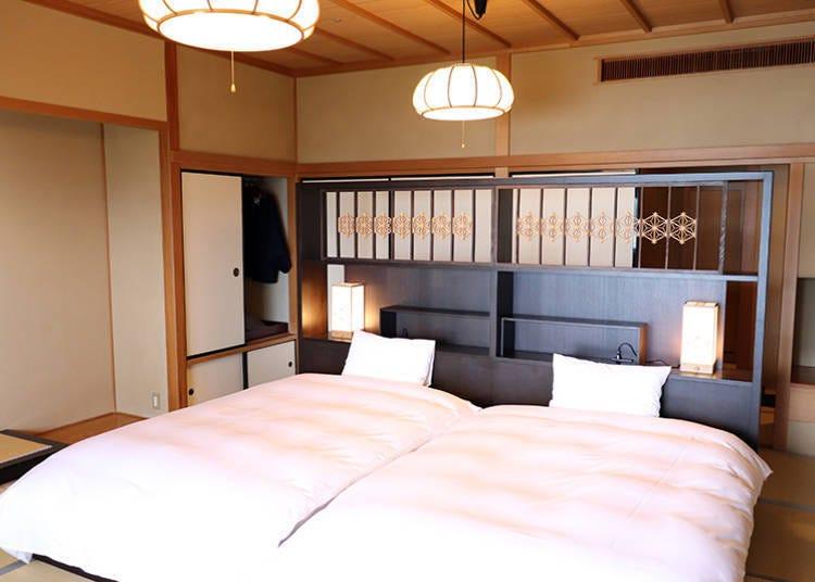 ■能够感受日光自然风景变化的客房