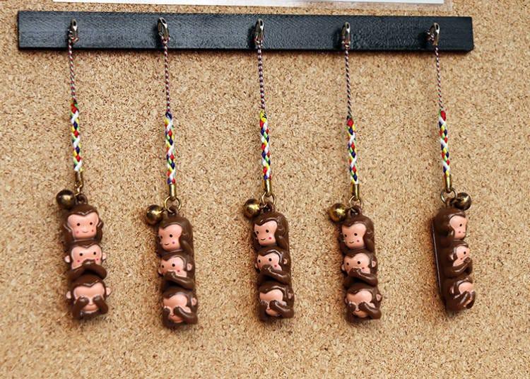 6. Three Wise Monkeys Charm: Absolute must-get when visiting the Tōshō-gū Shrine!