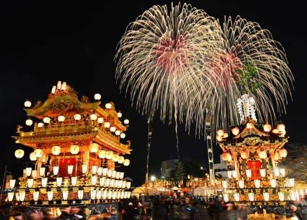 ■お祭りの夜を彩る大輪の花火