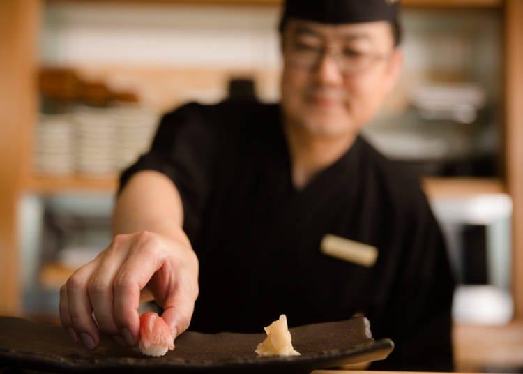 2.澀谷街景也一起享受的高級壽司店「SUSHI權八澀谷」【東京都澀谷】