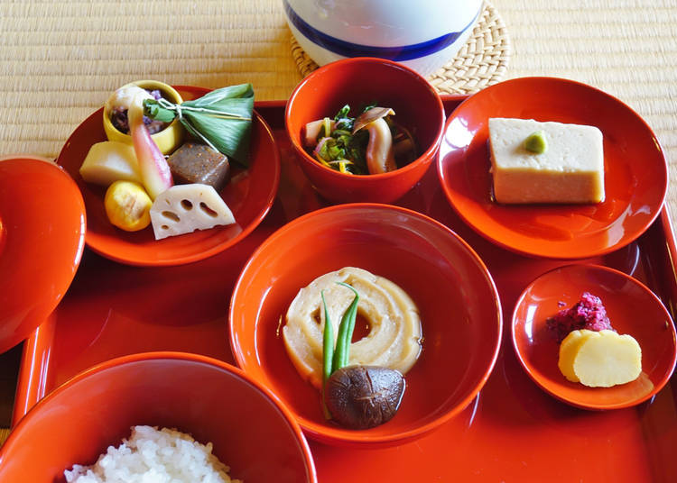 13. Experience the vegetarian cuisine of Yakuo-in