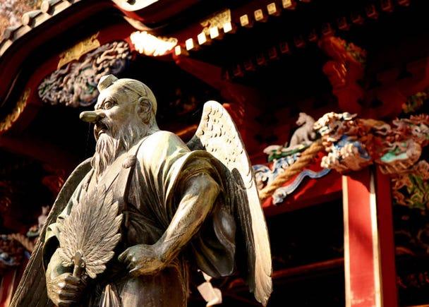 【理由8】日本の有名な妖怪「天狗」が見られる