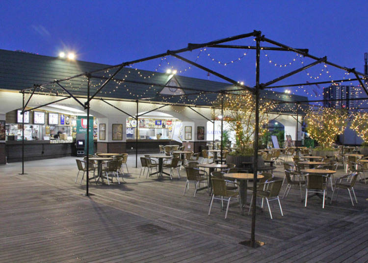 ●Aozora Craft Beer Garden: Rooftop restaurant on the eighth floor