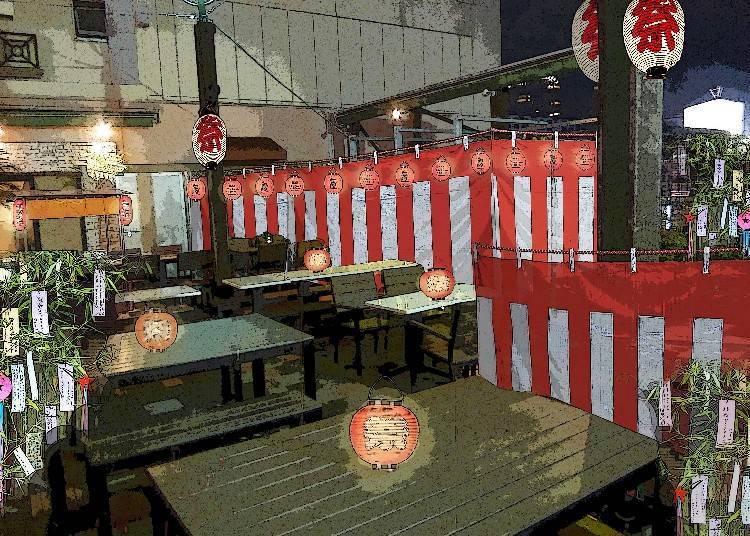 """■澀谷站直達!以""""祭典""""為主題的特色啤酒花園『kawara GARDEN 東急百貨公司東橫店』"""