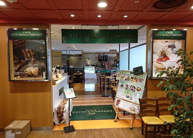 ●「カフェ クッチーナ&カンパニー」 (南館6階)
