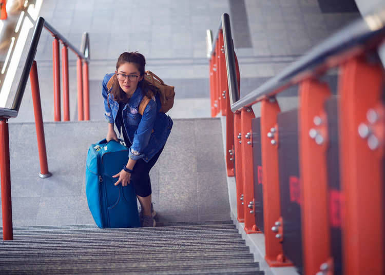 Traveling Japan Solo - Disadvantage #2: Carrying heavy bags to distant hotels