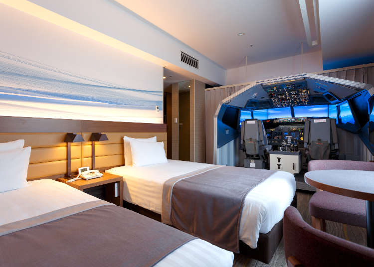Pack Your Bags, Forget Your Ticket: New Tokyo Hotel Room Features Full-Sized 737 Flight Simulator!