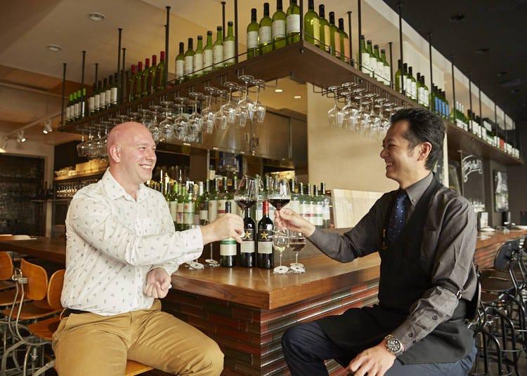 Explore the Wine Cellar of the Grande Polaire Winebar Tokyo